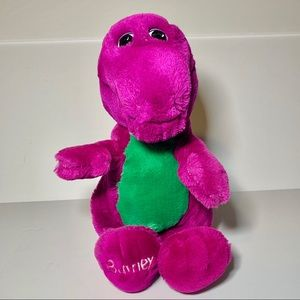 "VTG 90s Barney the Dinosaur Plush 14"" Stuffed Rare"